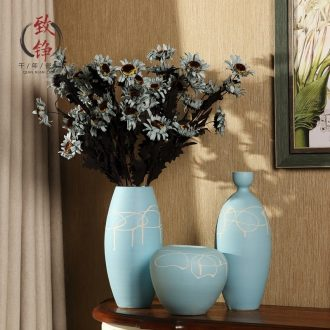 Jingdezhen ceramic vase desktop China household of Chinese style decoration flower arranging furnishing articles sitting room TV cabinet