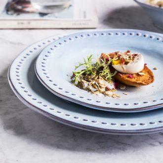 Million jia creative ceramic dish dish home breakfast dish plate irregular steak salad plates plate of lance