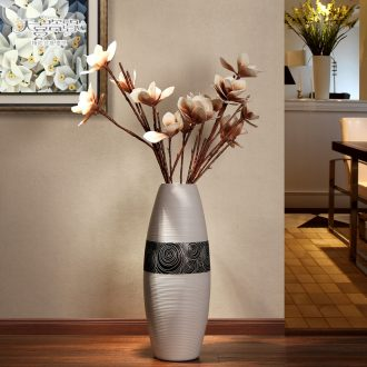 Jingdezhen ground vase European modern fashion contracted sitting room TV ark place flower home decoration