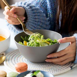 Million jia household northern wind ceramic bowl individual creative personality rainbow noodle bowl bowl rainbow noodle bowl large bubble cereal bowl