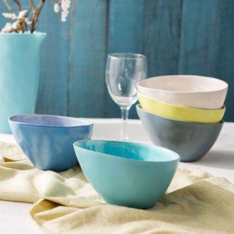 Ijarl creative household ceramics oblique mouth water bowl bowl of rice bowl bowl dessert bowl dessert bowl of tableware