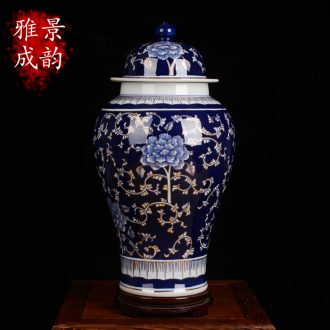 Jingdezhen ceramic vase sitting room place general paint cans caddy accessories antique blue and white porcelain arts and crafts