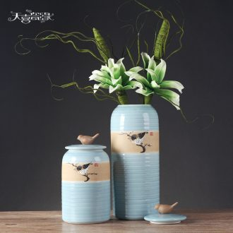 Modern new Chinese ceramic vases, flower arranging furnishing articles European sitting room porch decoration decoration creative TV ark