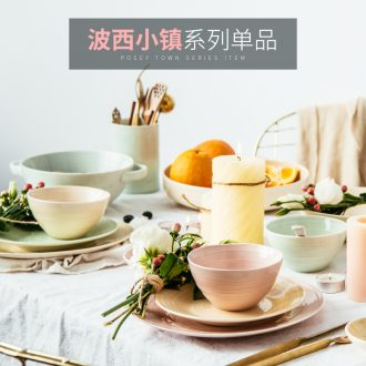 Million jia ou ceramic tableware bowls of fruit bowl ears fish bowl of soup bowl of salad bowl dish flat plate wave west town