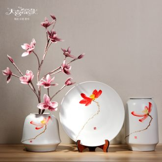Modern new Chinese style ceramic storage tank household soft adornment model vase is placed between the sitting room porch ark