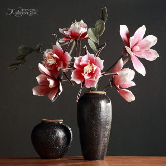 Jingdezhen restoring ancient ways do old clay coarse pottery vase is the sitting room TV ark ceramic clay pottery flower arranging nostalgic flowerpot