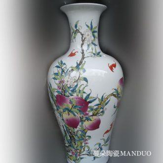 60-70 cm tall xiantao porcelain vases fishtail xiantao porcelain vases bats xiantao vase