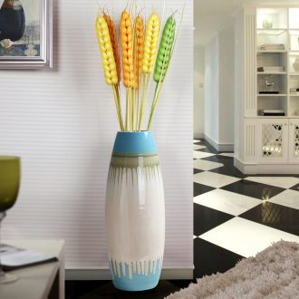 Contemporary and contracted Europe type TV ark ceramic floor big vase planting the sitting room porch place hotel soft decoration
