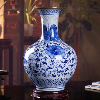 Jingdezhen ceramic vase household porcelain crack wine ark decoration living room TV cabinet office furnishing articles
