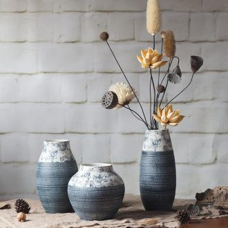 Jingdezhen ceramic household act the role ofing is tasted furnishing articles three-piece creative art vases, TV ark wine porch decoration
