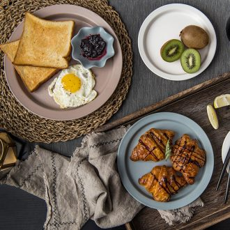 Million jia creative Korean Japanese household ceramics dessert cold dishes plate flat dish dish dish beefsteak plates