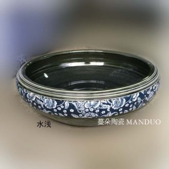 Jingdezhen green fashion shallow jingdezhen ceramic fashion small basin of jingdezhen porcelain fashion small cylinder