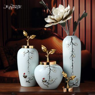 New Chinese style ceramic vase continental mesa of the sitting room porch household dry flower art suits soft adornment is placed