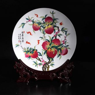 35 cm xiantao jingdezhen porcelain furnishing articles xiantao bats celebration gift porcelain furnishing articles furnishing articles