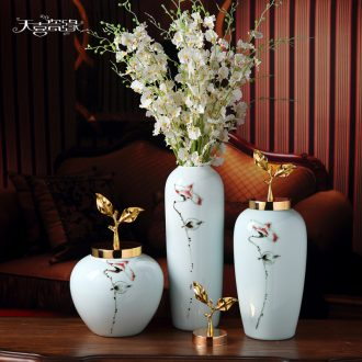 Jingdezhen ceramic vases, dry flower arrangement home furnishing articles the sitting room porch storage tank decoration home soft decoration