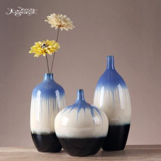European modern ceramic vase furnishing articles creative living room TV cabinet table flower arranging porch, home decoration