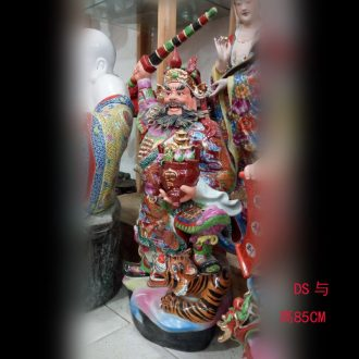 Jingdezhen manual pastel 52 cm gawain mammon 47-130 cm tall Zhao Gongming ceramic sculpture porcelain furnishing articles