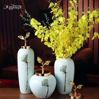 Modern new Chinese style ceramic vase furnishing articles sitting room hall table, TV ark flower arrangement, household soft adornment
