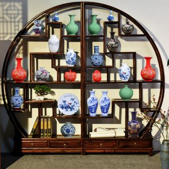 Jingdezhen ceramics vase furnishing articles flower arrangement of blue and white porcelain vase sitting room of Chinese style household office decoration