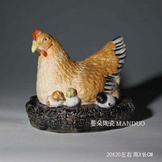 Ceramic hen chicken skin furnishing articles three-dimensional sculpture porcelain chicken chicken chicken hen furnishing articles celadon