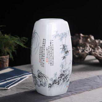 Jingdezhen chinaware bottle plum chrysanthemum flower arranging flowers wine TV ark adornment handicraft furnishing articles sitting room