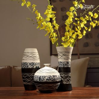 Jingdezhen ceramic vase furnishing articles contemporary and contracted home sitting room adornment flower arrangement is lucky bamboo hydroponic porcelain