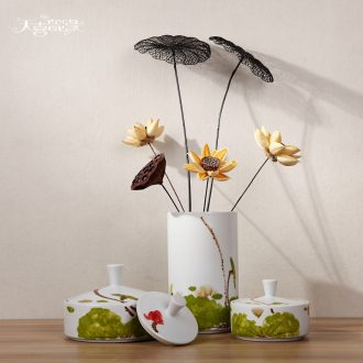 Modern Chinese ceramic storage tank creative furnishing articles fashionable sitting room between example household soft adornment caddy
