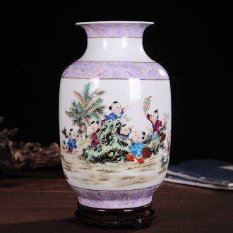 Jingdezhen ceramics flower vase colour bottle wine desk decoration living room TV ark furnishing articles
