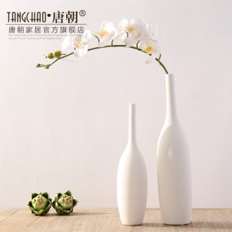 Tang dynasty white fine mouth furnishing articles contemporary and contracted sitting room decoration home decoration ceramic vase dried flowers flower arrangement