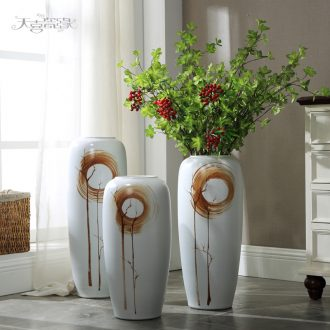 Jingdezhen ceramic vase landing American modern European style living room TV ark home flower adornment furnishing articles