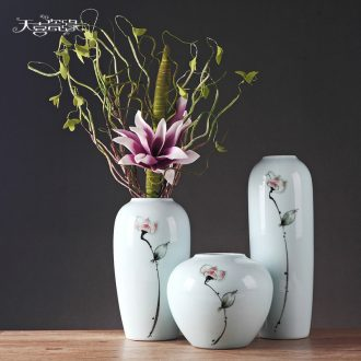 Jingdezhen contemporary and contracted home furnishing articles sitting room TV cabinet ceramic flower arranging adornment table hydroponic flowers