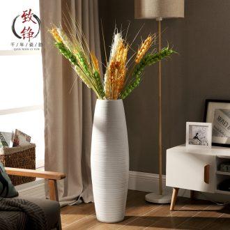 Jingdezhen modern ideas of new Chinese style hotel villa living room home decoration flower arrangement of large ceramic vase