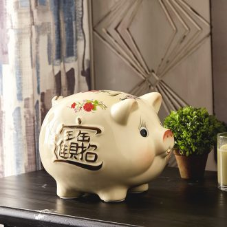 Jingdezhen ceramics pig piggy bank piggy bank home wine ark adornment handicraft ceramic furnishing articles in the living room