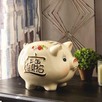 Jingdezhen ceramics pig piggy bank piggy bank home wine ark adornment handicraft ceramic furnishing articles in the living room