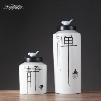 New Chinese jingdezhen ceramic storage tank vase ideas between sitting room porch club example decorations furnishing articles