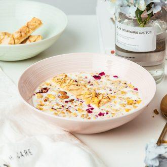 Ijarl million fine ceramic creative household porringer fruit salad bowl noodles bowl lovely tableware posey town