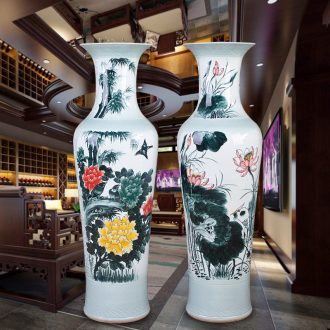 Jingdezhen ceramic hand-painted pastel landing a large vase hotel opening gifts sitting room adornment big furnishing articles