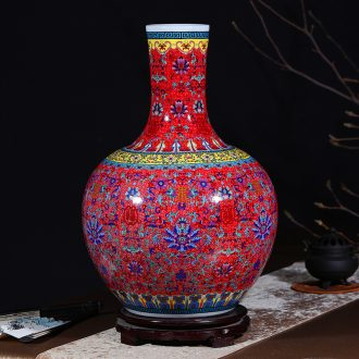 Jingdezhen ceramics vase colored enamel of large vases, flower flower arrangement sitting room adornment ceramics furnishing articles