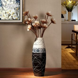 European modern ceramic vase landing fashionable sitting room new TV ark decoration dry flower home furnishing articles