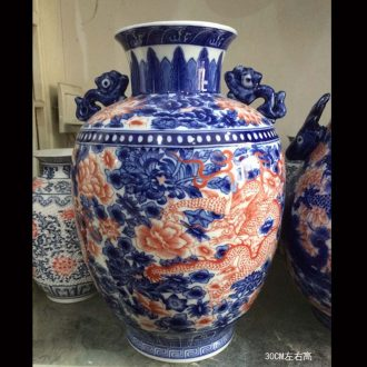 Jingdezhen porcelain youligong longfeng grain ears zun ceramic vase cover tank general practical storage POTS