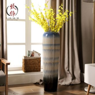 Jingdezhen creative art of contemporary and contracted dried flowers flower arrangement of large ceramic vases, soft outfit example room decoration