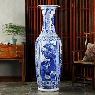 Jingdezhen ceramics hand-painted porcelain of 1.6 meters of large vase hotel lobby sitting room adornment is placed