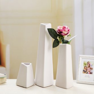 Ceramic vase planting furnishing articles creative contemporary and contracted sitting room white household soft adornment office floret