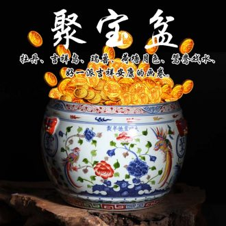 Jingdezhen porcelain cornucopia blue color cornucopia flower porcelain cornucopia dragon color cylinder