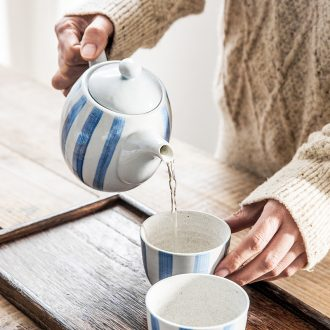 Ijarl million jia creative Japanese ceramic teapot teacup household contracted small pure and fresh and drink a cup of Karen kettle