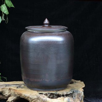 Jingdezhen 6 jin jin 45 20 jins storage jar of orange to dark red porcelain ceramic storage tank