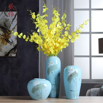 Jingdezhen ceramic vase desktop China household of Chinese style decoration flower arranging office furnishing articles in the living room