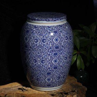 Jingdezhen porcelain rice jar of wax gourd flat cap can bench cover pot pickle jar jar of 45 kg