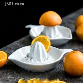 Ijarl million jia manual ceramic creative contracted lemon and orange juicer mini home easy to clean