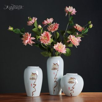 Contemporary and contracted Europe type ceramic vase hydroponic furnishing articles home sitting room TV cabinet table flower decorations